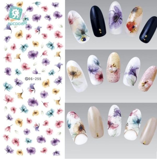 Colorful Nails Art Sticker