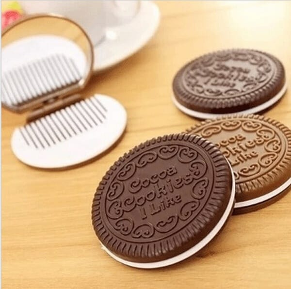 Cookie Shaped Pocket Mirror