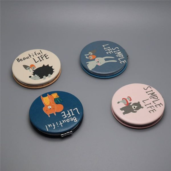 Cute Double Sided Cartoon Pocket Mirror