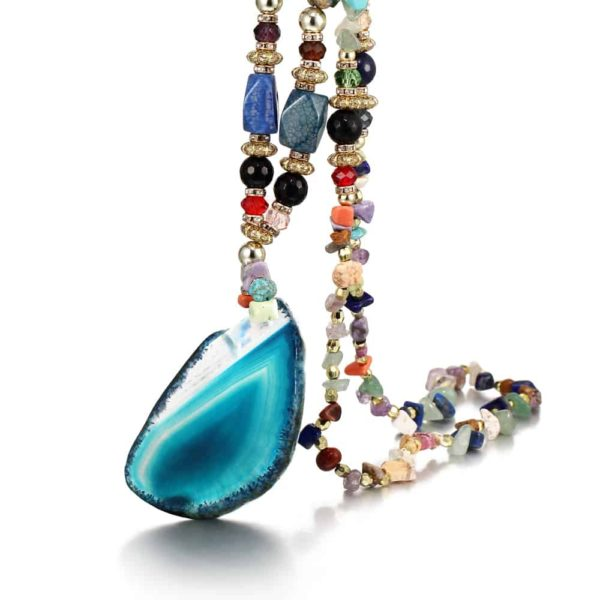 Colorful Beads Boho Style Women's Necklace