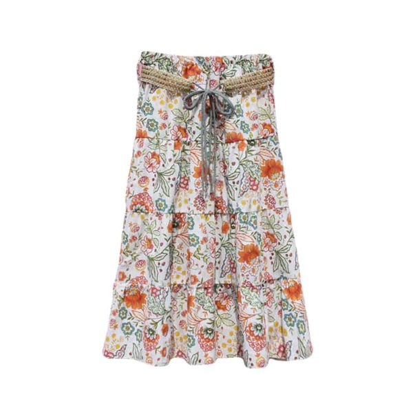 Boho-Styled Summer Skirt with Elastic Waist