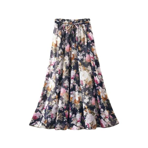 Elegant Boho-Styled High Waist Skirt