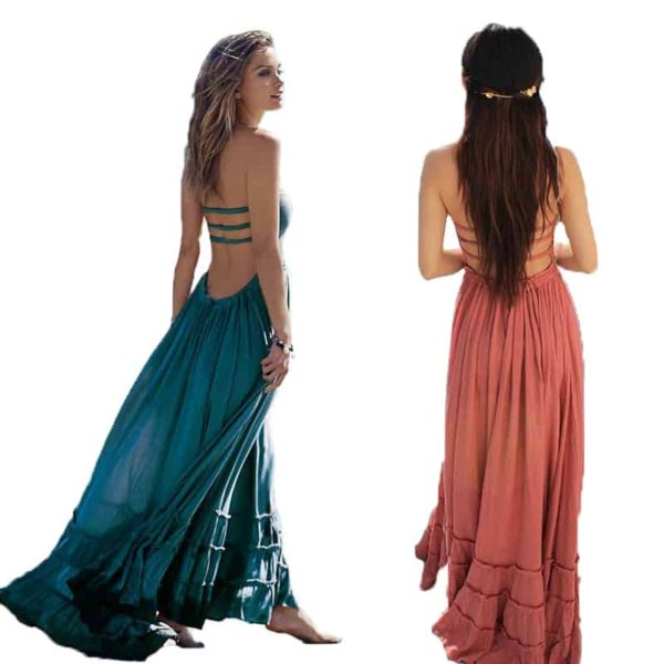 Women's Summer Sleeveless Boho Dress