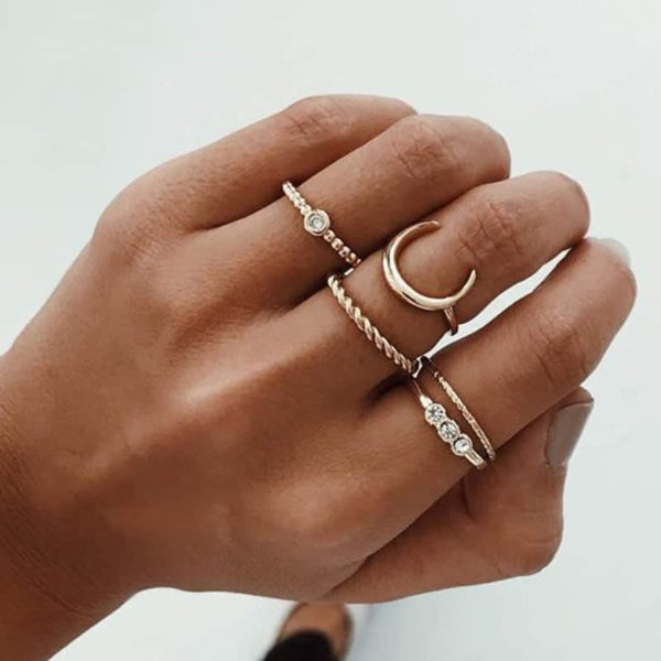 Set of 5 Bohemian Rings