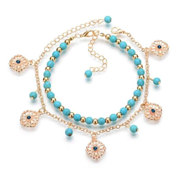 Charming Bohemian Summer Gold Plated Anklet