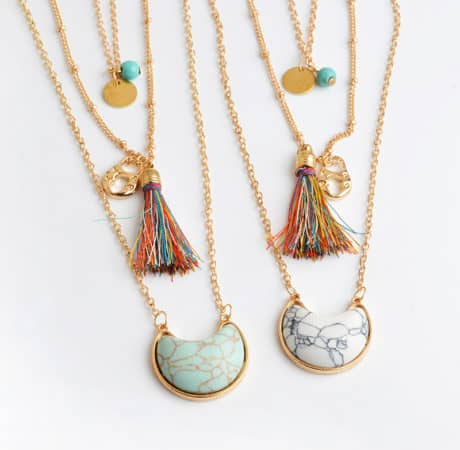 Bohemian Style Multilayer Stone Necklaces