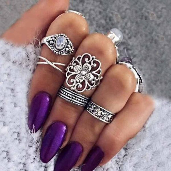 Bohemian Women's Zinc Alloy Rings Set