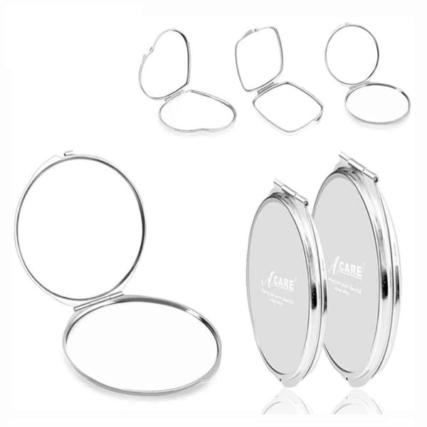 Stainless Steel Double Pocket Mirror