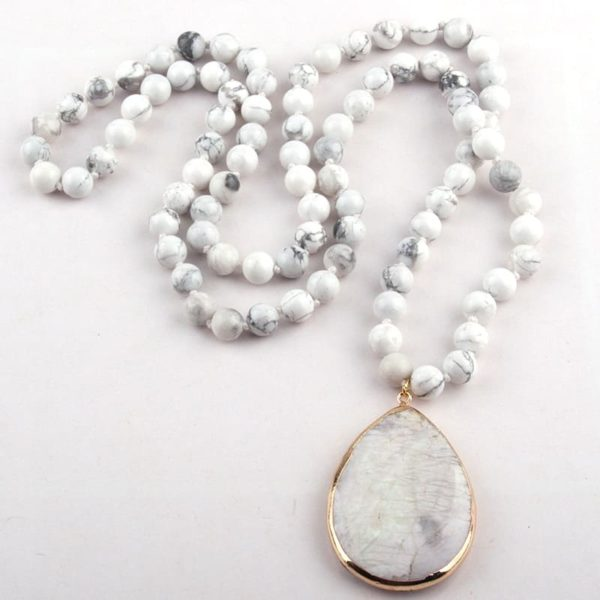 Natural Stone Knotted Necklace