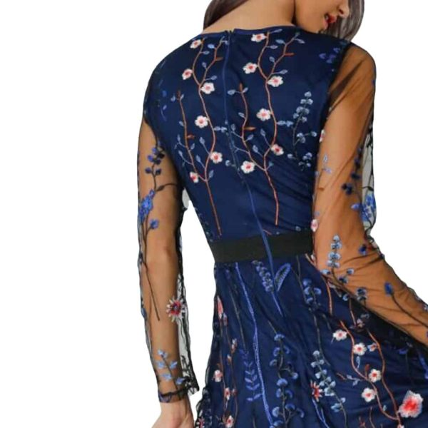 Sexy Women Floral Embroidery Boho Dress
