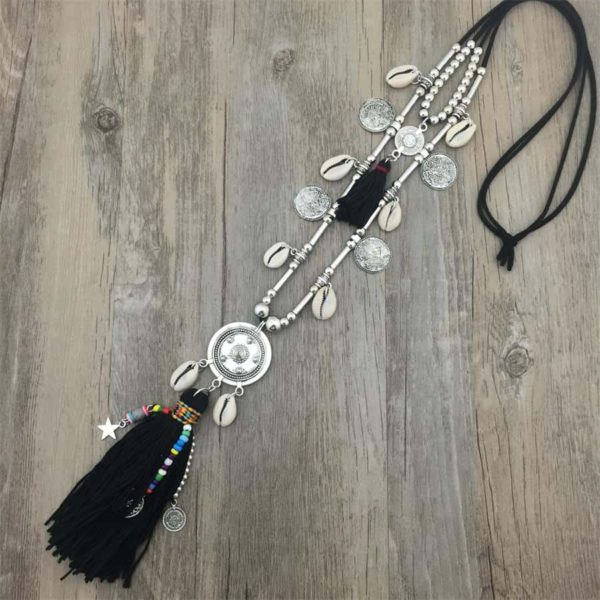 Double Layer BohoLong String Chain Necklace