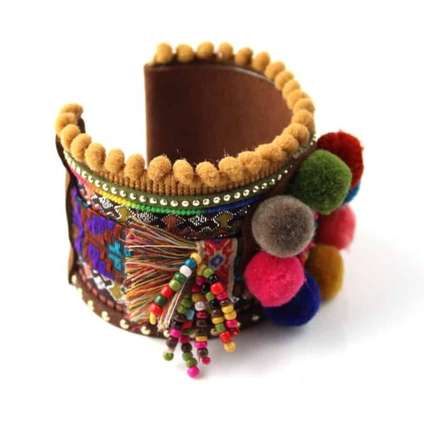 Handmade Colorful Boho Bangle Bracelet