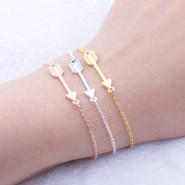 Boho Rose Gold Arrow Bracelet